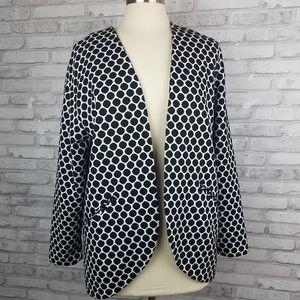 H&M Black & White Polka Dot Knit Open Fron…